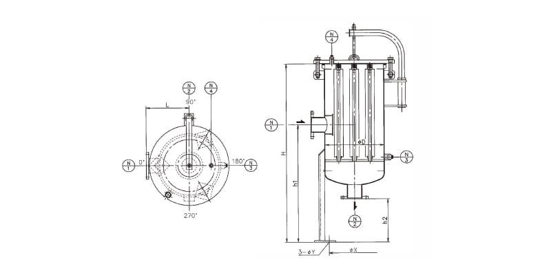 フィルターハウジング 樹脂製タイプ