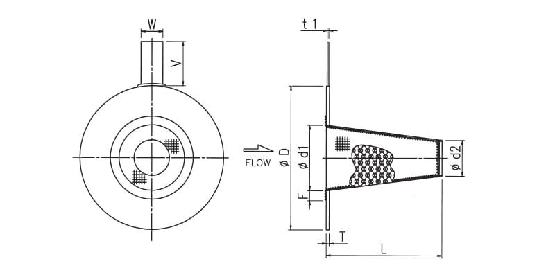 D/DL(ロングタイプ) 円錐台形状