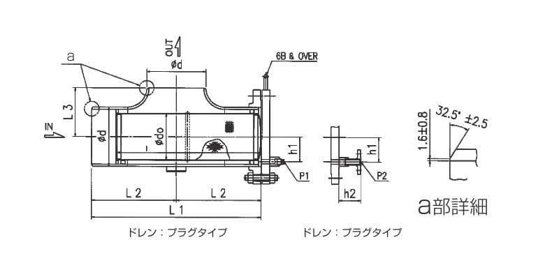 【モデル:T1-B(接続:突合せ溶接)】