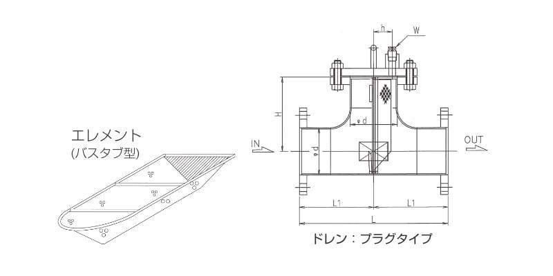 【モデル:T2-B(接続:フランジ)】